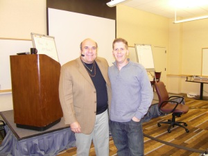 "Saul Maraney and Dr. Joe Vitale at ""Attract Wealth 2"" Seminar in Austin, Texas – January 2009"